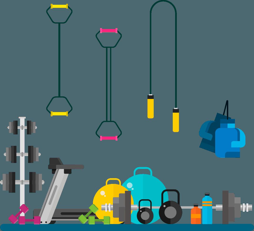Attrezzi vari per allenamento funzionale