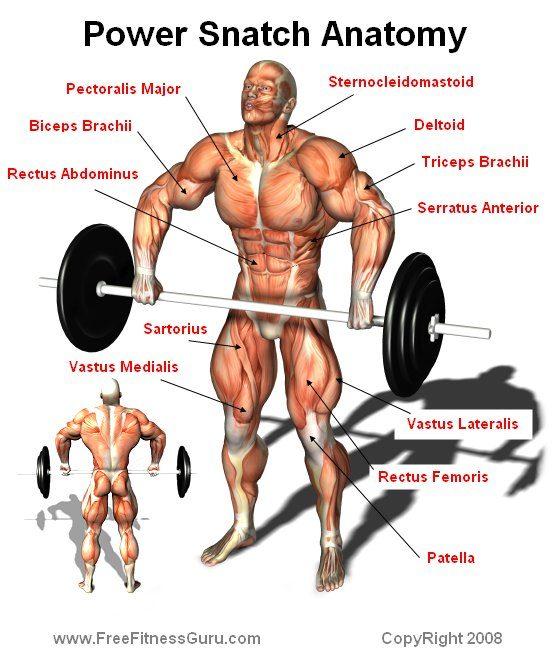 Weightlifting Power Snatch